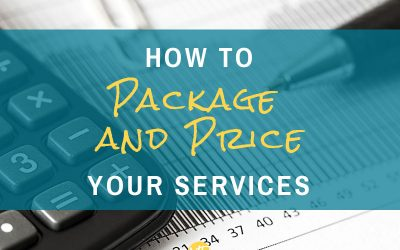 How to package and price your services